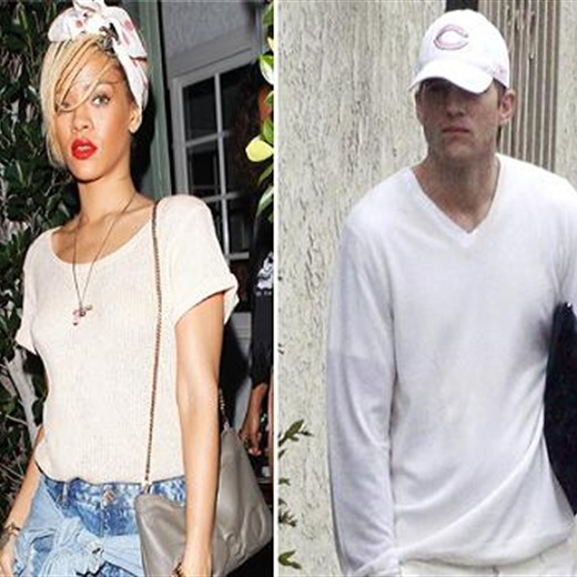 ¿Rihanna y Ashton Kutcher se ven hace mucho?