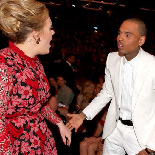 ¿Adele ignoró a Chris Brown?