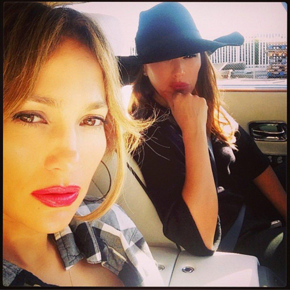 Jennifer López y Leah Remini