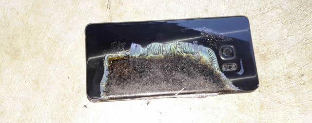 Un Samsung Galaxy Note 7 explota en un restaurante