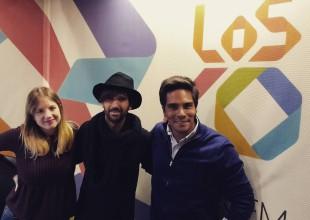 El cantante español visitó a Juani Martínez en Guatsap.
