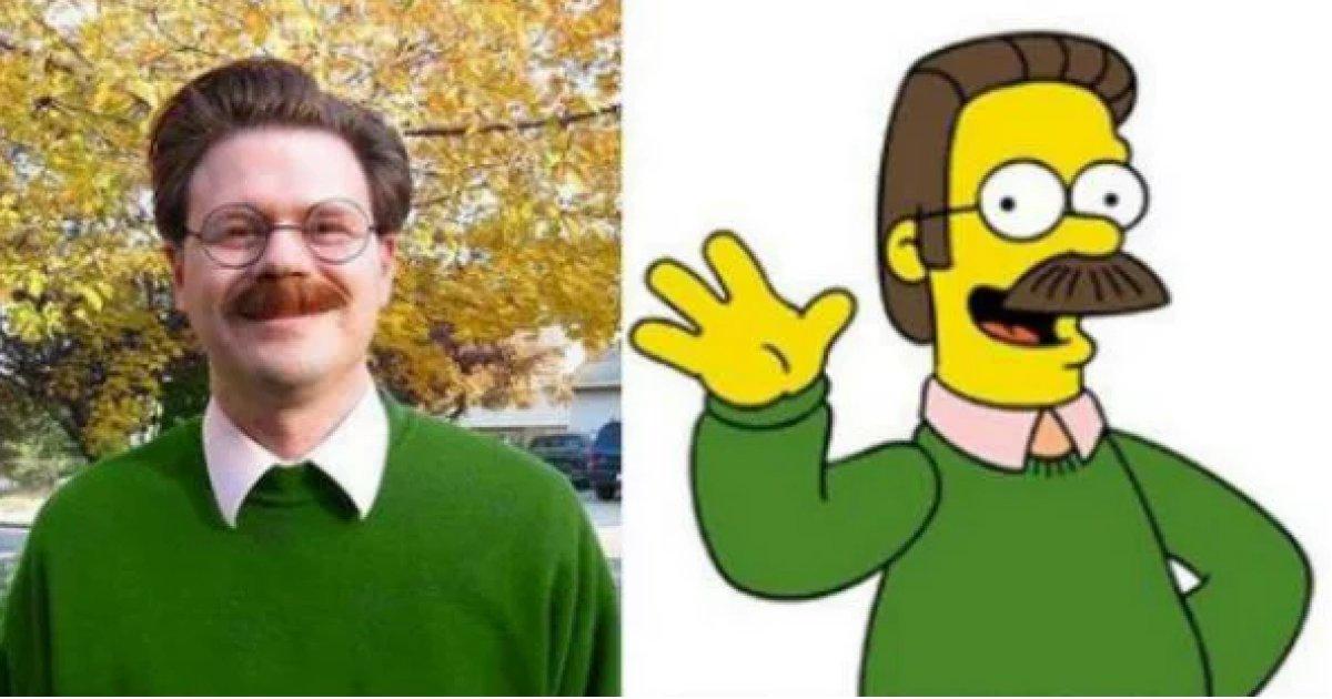 Estas personas se parecen a personajes de Los Simpson