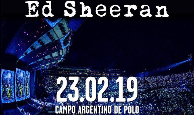 ¡CON TODO! Ed sheeran regresa a la Argentina con un increíble show