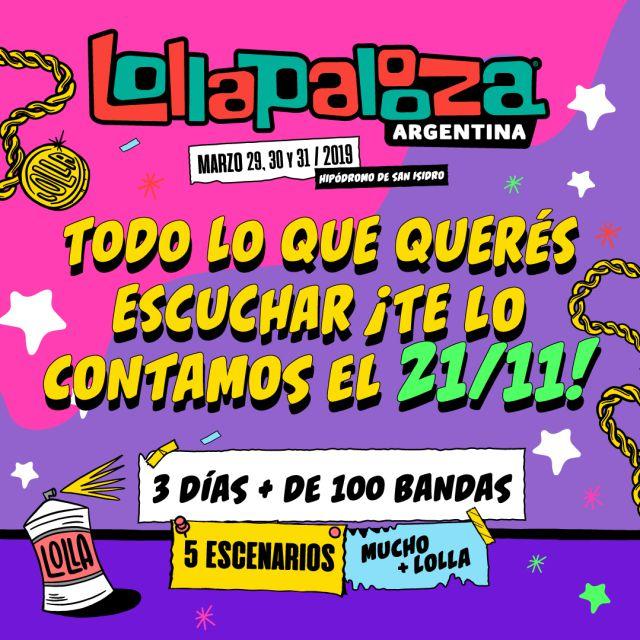 Lollapalooza: ¡El 21 de noviembre anunciarán el line up!
