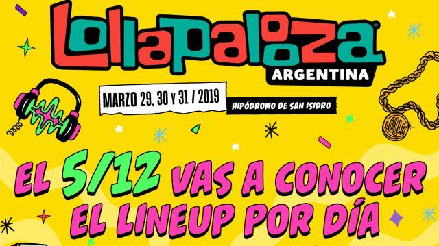 Lolla Argentina anunciará el miércoles el line up por día