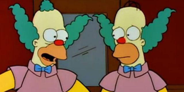 Homero y Krusty